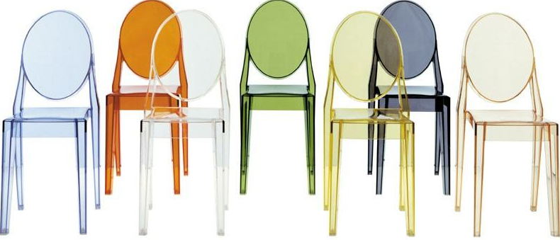 Philippe starck for Chaise louis ghost kartell