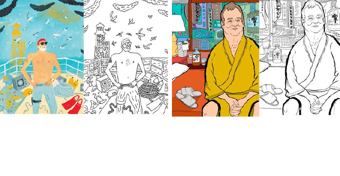 posted - Bill Murray Coloring Book